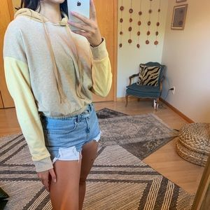 Soft cropped hoodie